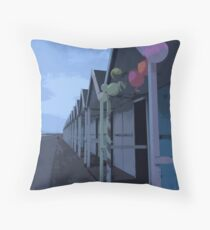 Birthday Chalet Throw Pillow