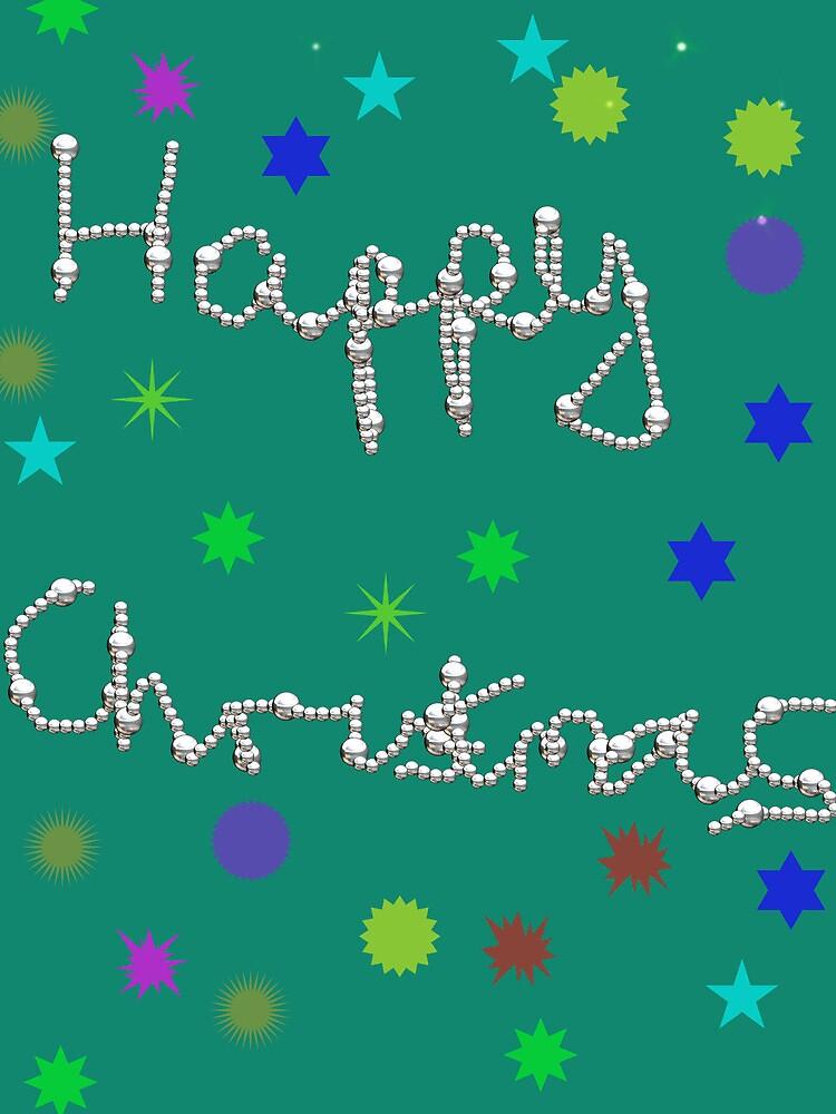Happy Christmas green card by designmeacard