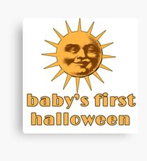 Baby's First Halloween with Moon Canvas Print