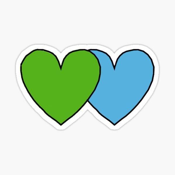 Azul y verde Pegatina