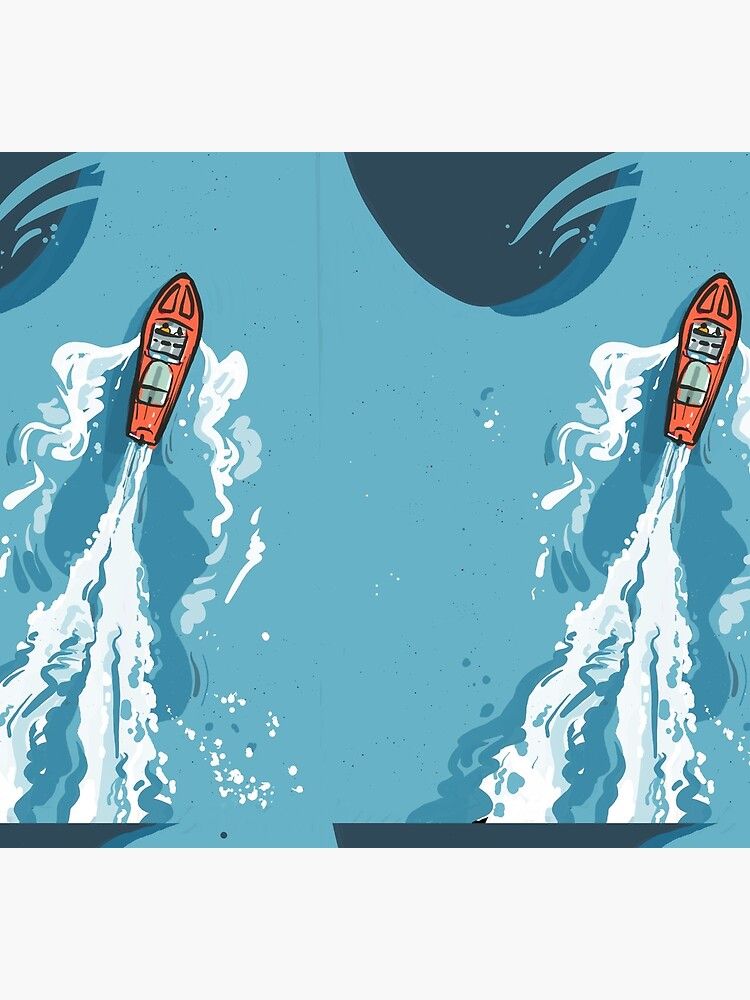 Speed boat | Power boat | motor boat drawing by CovoStudio