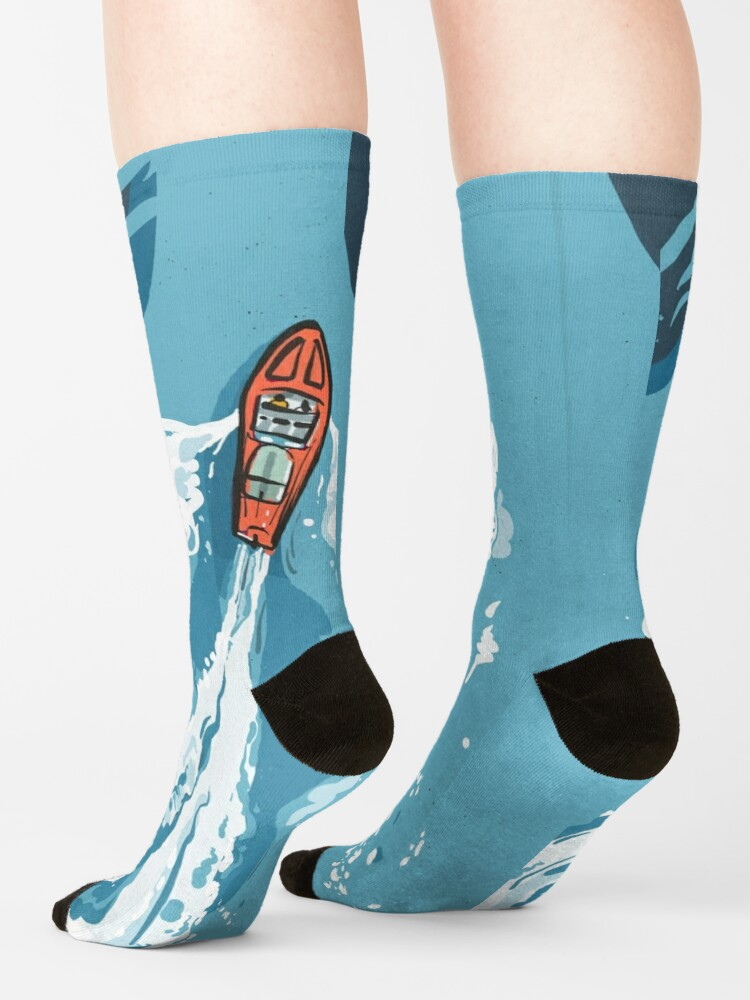 Alternate view of Speed boat | Power boat | motor boat drawing Socks