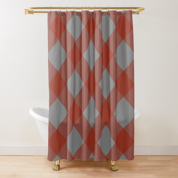 Izlet (Red/Gray) Shower Curtain