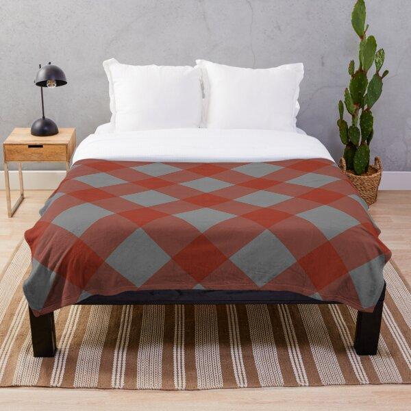 Izlet (Red/Gray) Throw Blanket