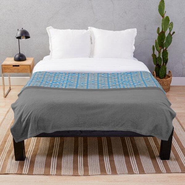 Guja (Blue) Throw Blanket