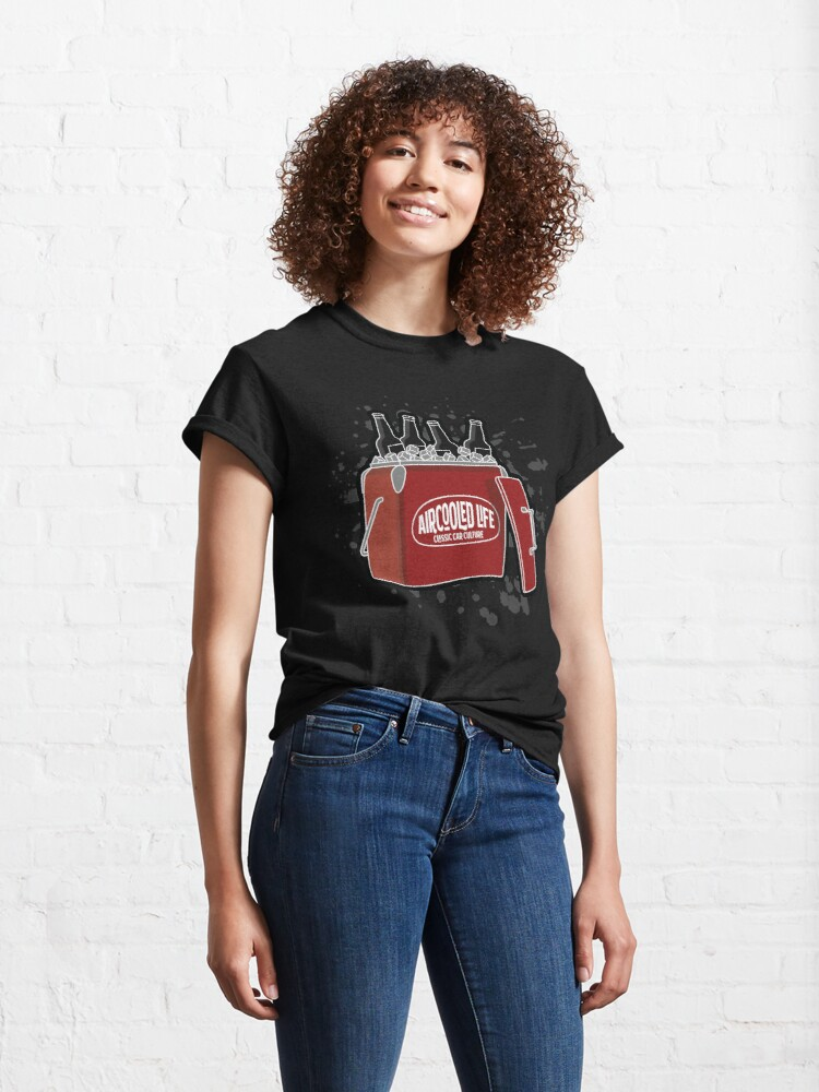 Alternate view of Aircooled Life Cool Box Beer Design Classic T-Shirt