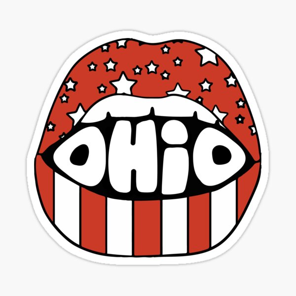 Ohio lips Sticker