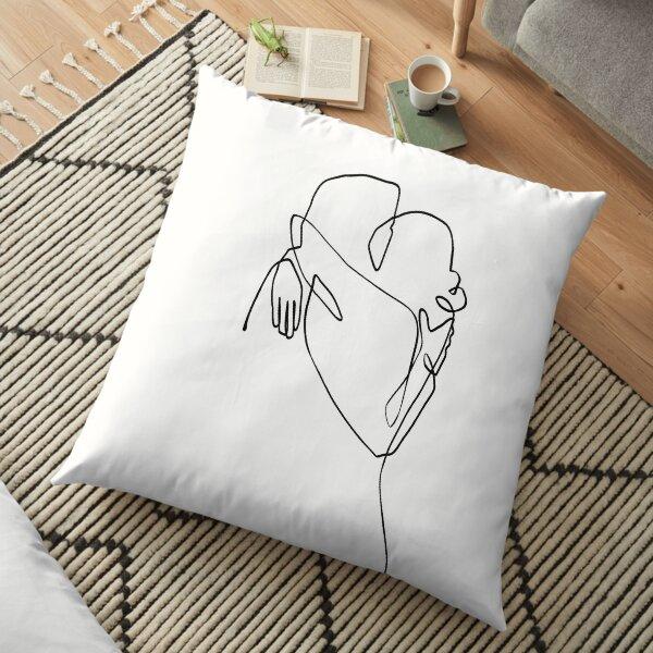 Love Hug - Line Art Floor Pillow