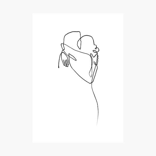 Love Hug - Line Art Photographic Print