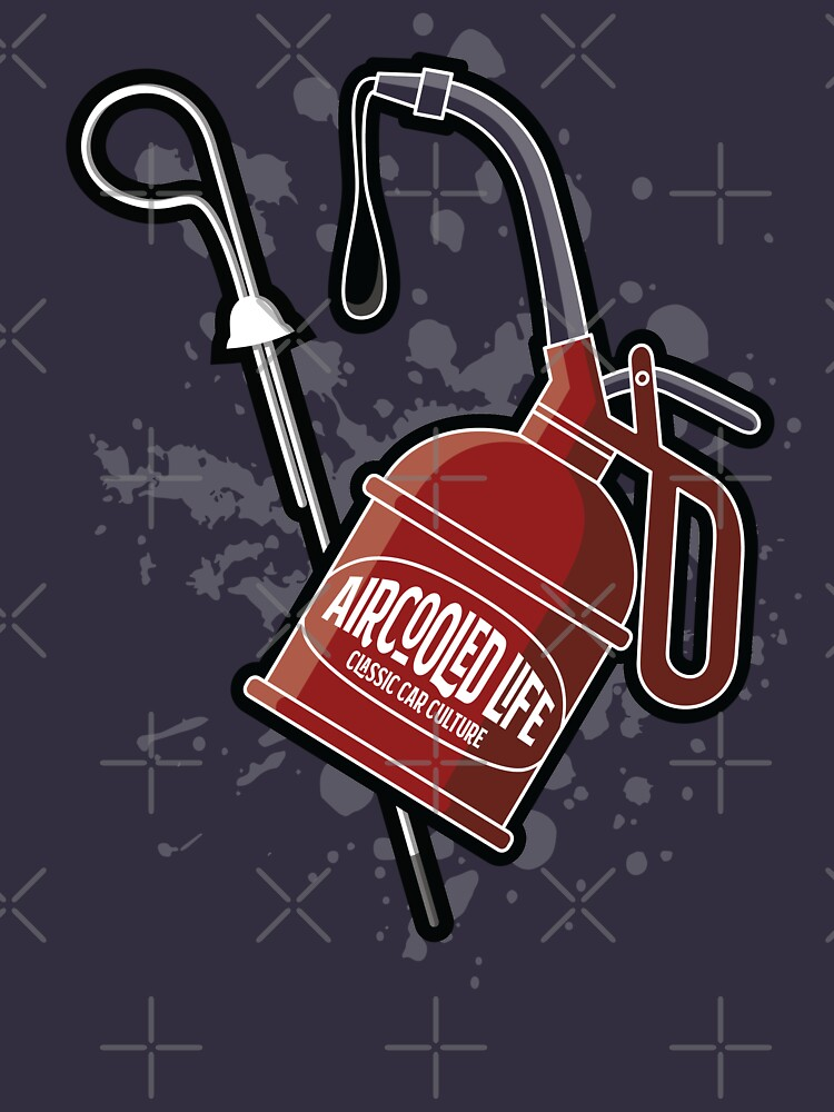 Oil is Aircooled Life - Oil Can Dip Stick Design by Joemungus