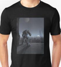 Future City - Robot Sentinel at Moon Rise Unisex T-Shirt