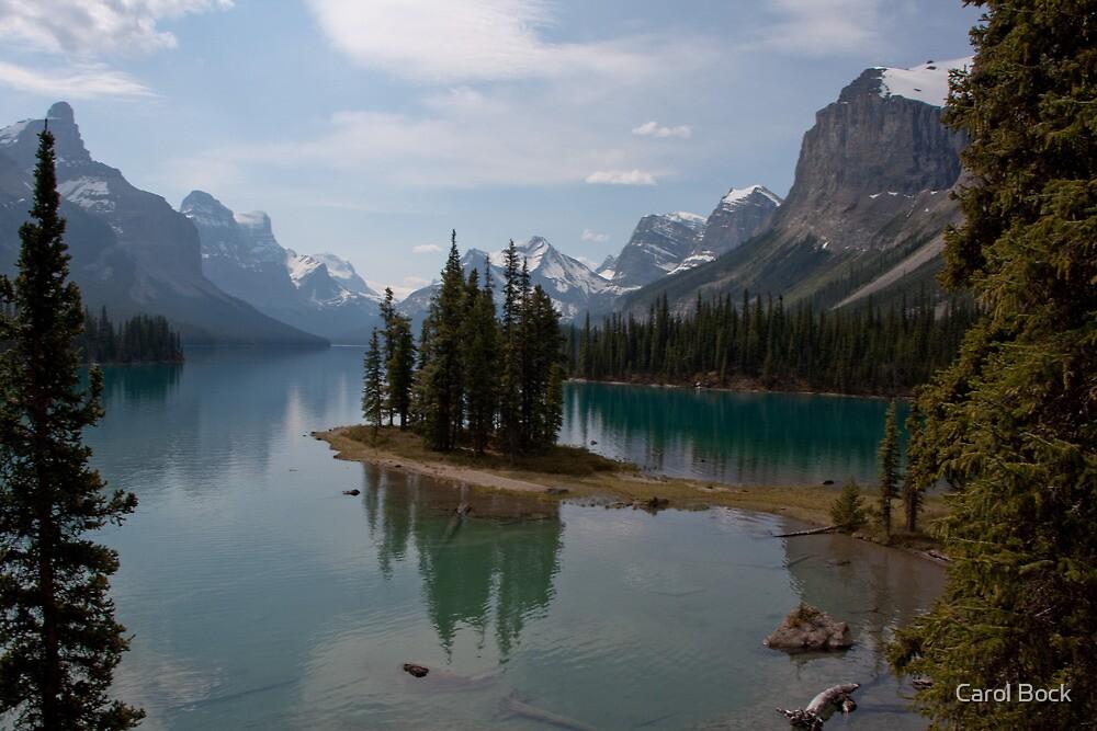 Maligne lake Spirit Island by Carol Bock