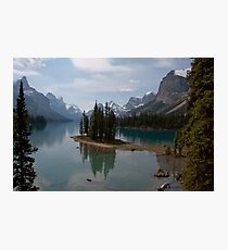 Maligne lake Spirit Island Photographic Print