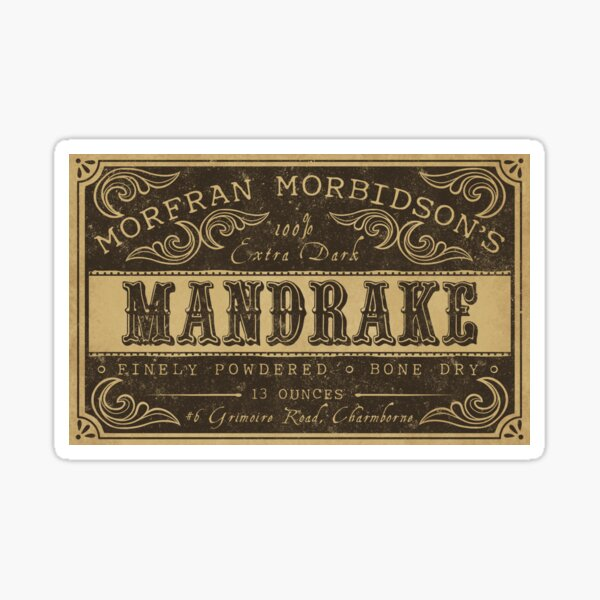 Mandrake Potion Label Sticker