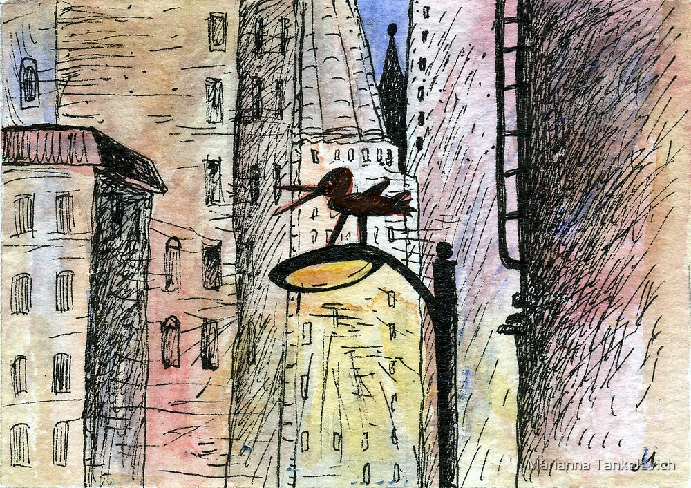 Bird in the city by Marianna Tankelevich