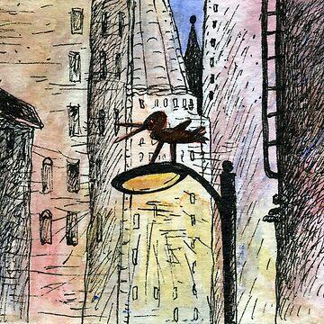 Bird in the city by mariannat