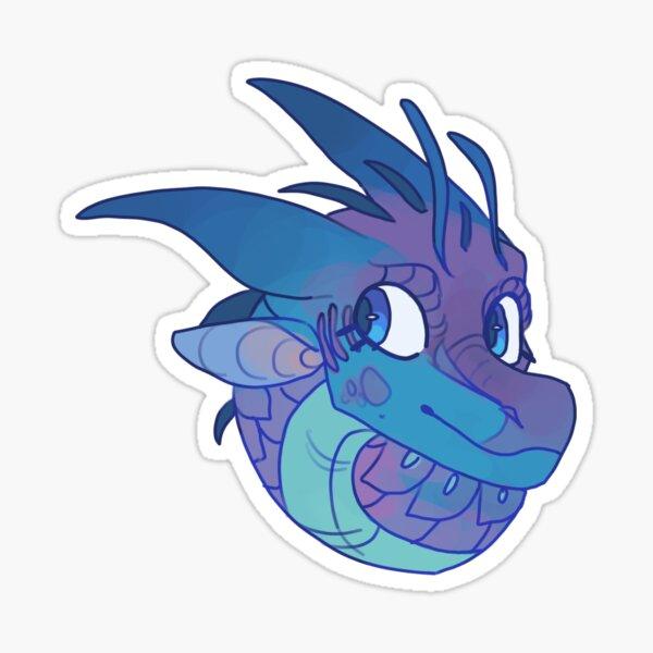 Blue Wings of Fire Sticker