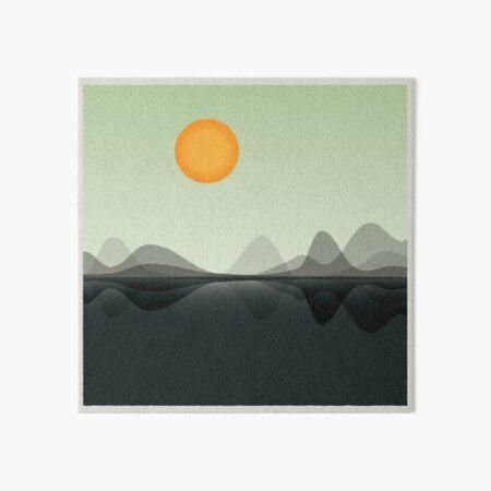 Reflections - 2D Minimalist Landscape  Art Board Print