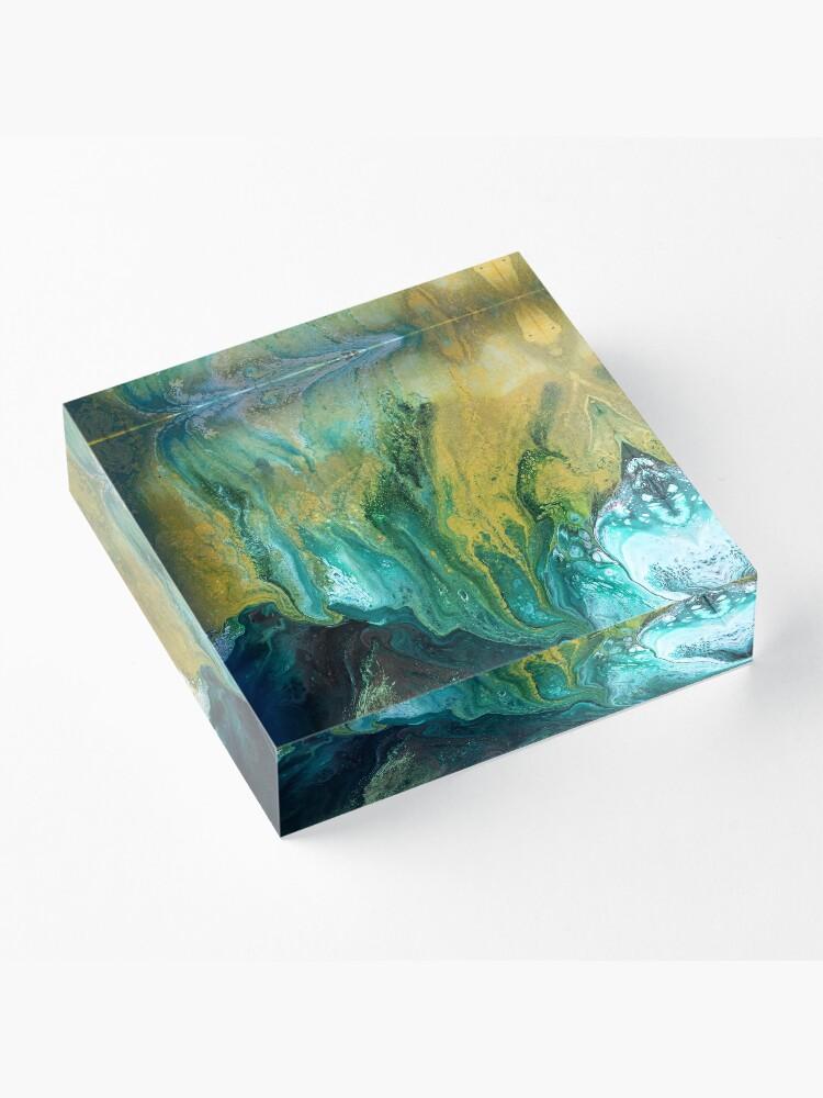 Alternate view of Land of Shadows Acrylic Block