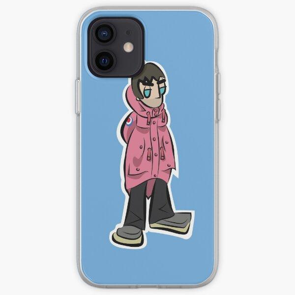 LG - Cartoon LGv1 (Pink Parka - Man City BG) iPhone Soft Case