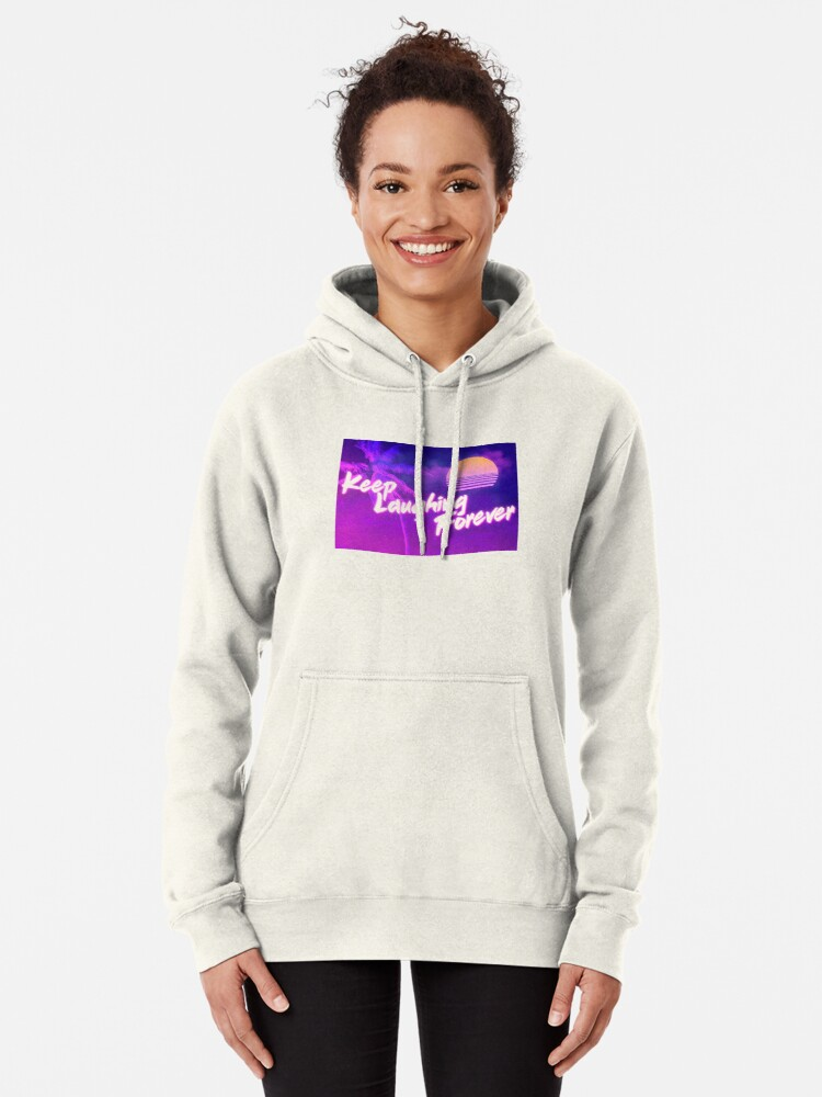 Alternate view of Keep Laughing Forever 80's Style Pullover Hoodie
