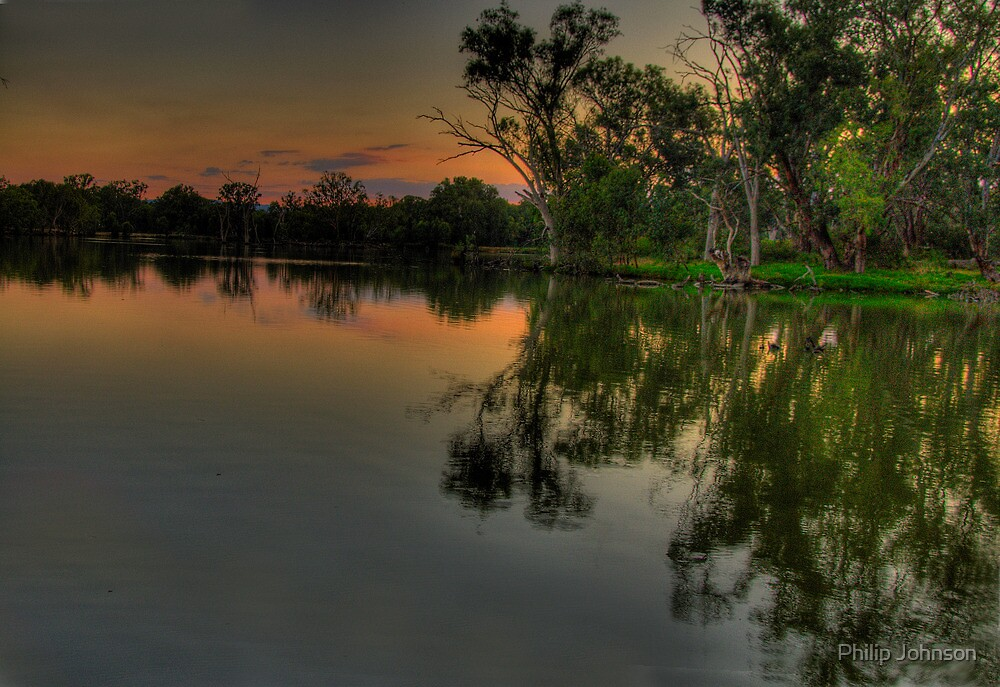 River Meditations , Horseshoe Lagoon Murray River ,Albury NSW - The HDR Experience by Philip Johnson