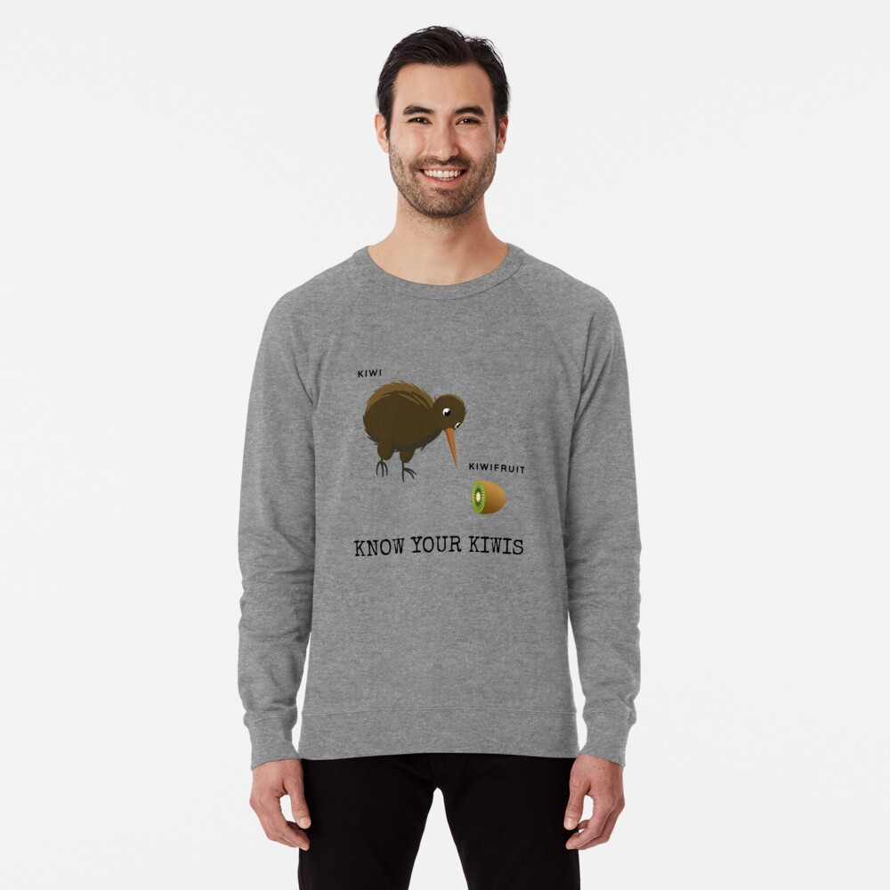 Know Your Kiwis  Lightweight Sweatshirt