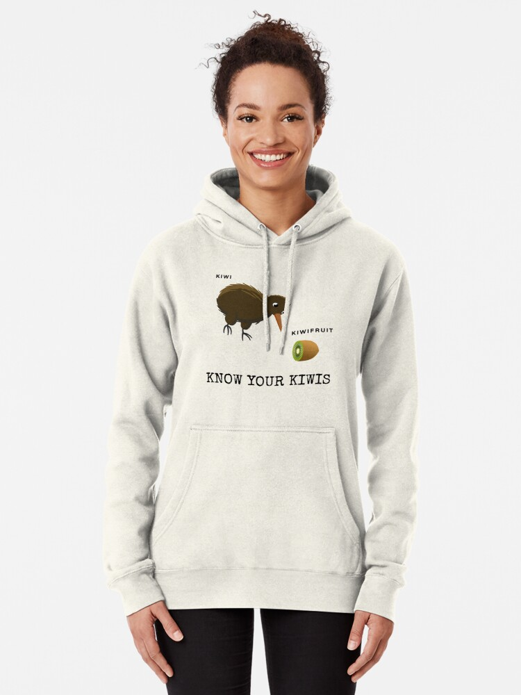 Alternate view of Know Your Kiwis  Pullover Hoodie