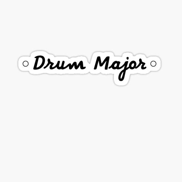 Drum Major Sticker