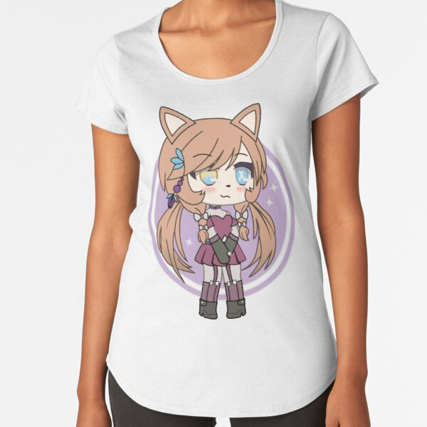 Cute Gacha Girl Foxy Chan Premium Scoop T-Shirt