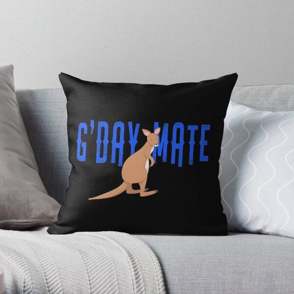 G'Day Mate Australia Cute Kangaroo  Throw Pillow