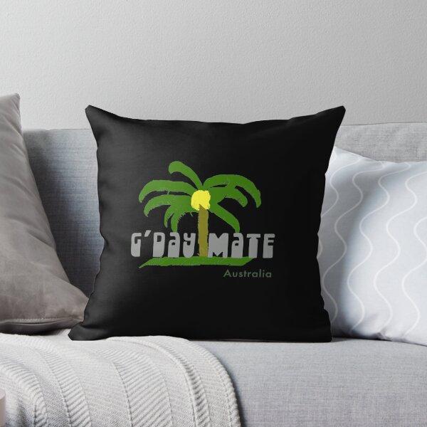 G'Day Mate Australia Palm Tree Throw Pillow