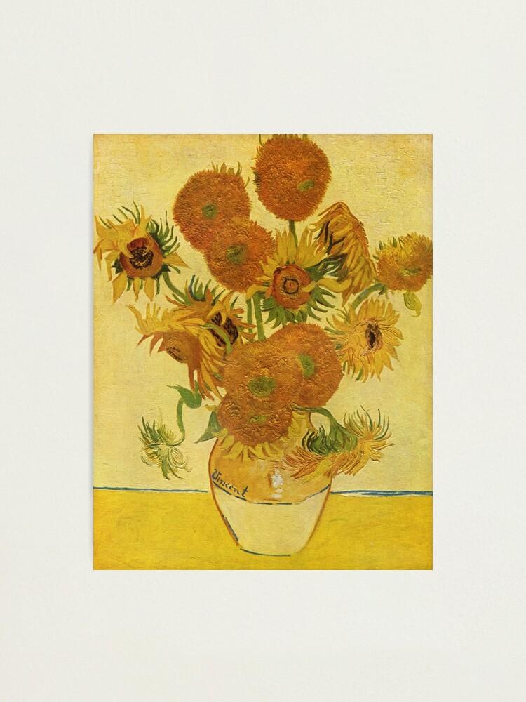 Alternate view of Sunflowers (Vincent Van Gogh) Photographic Print
