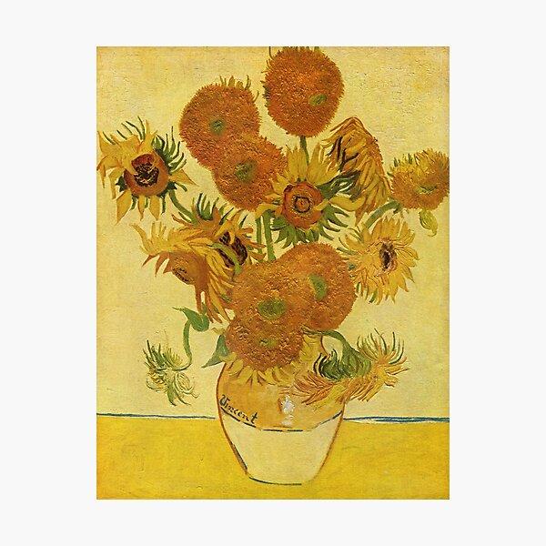 Sunflowers (Vincent Van Gogh) Photographic Print