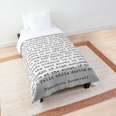 Man In The Arena Theodore Roosevelt Quote Comforter