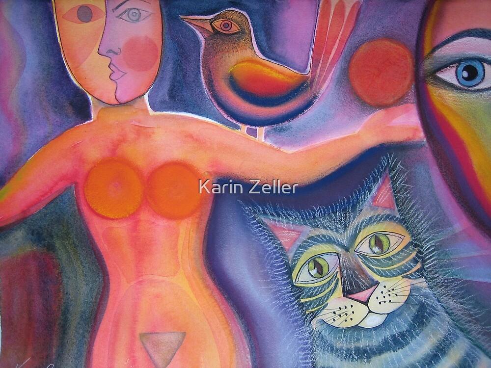Meine Katze hat ein Vogel by Karin Zeller