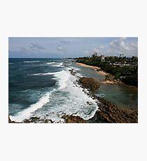 View from Castillo de San Cristóbal, Old San Juan,  Puerto Rico Photographic Print