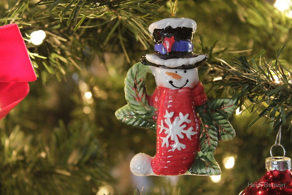 Snowman Ornament    by Heidi Benson