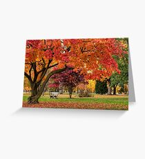 Autumn Walk In The Park Greeting Card