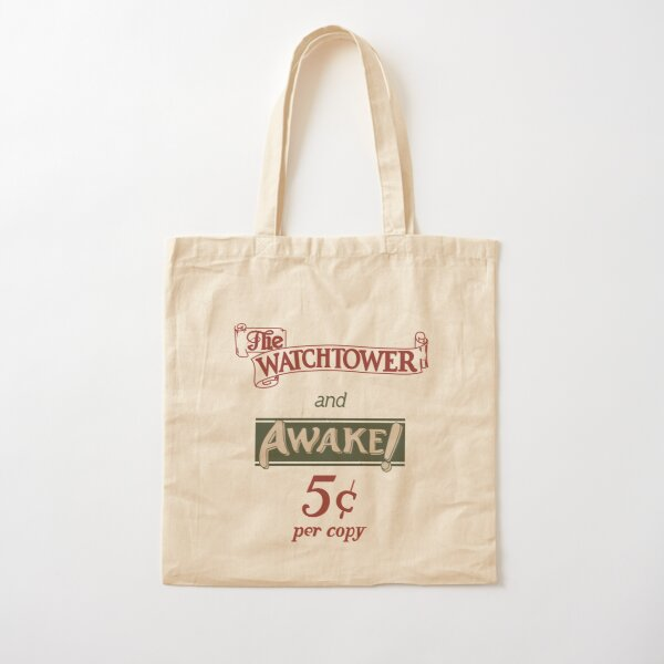 Watchtower and Awake Design Cotton Tote Bag