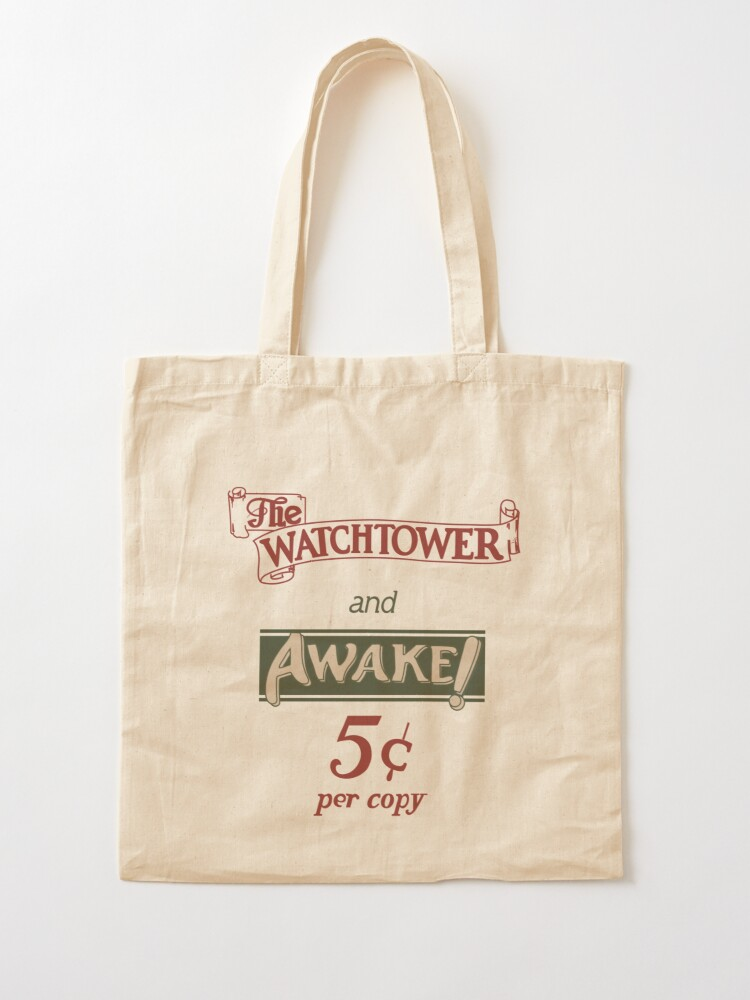 Alternate view of Watchtower and Awake Design Tote Bag
