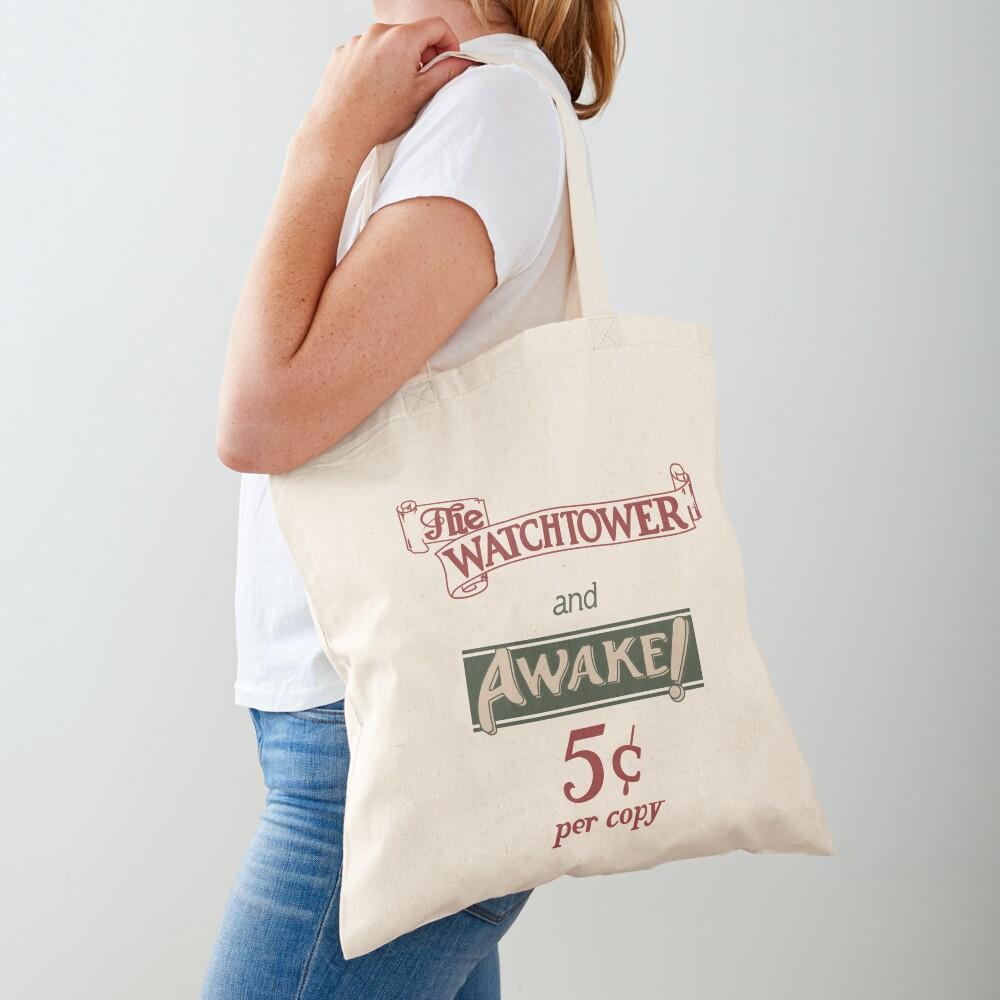 Watchtower and Awake Design Tote Bag