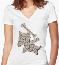Marowak used earthquake Women's Fitted V-Neck T-Shirt