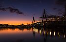 Anzac Bridge Sunset by yolanda