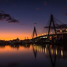 Anzac Bridge Sunset by yolanda