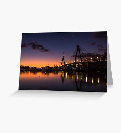 Anzac Bridge Sunset Greeting Card