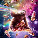 Space Pizza Sloth - Rainbow Laser by SkylerJHill