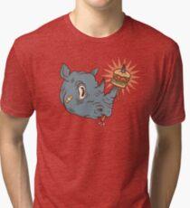 Rhino Burger YUM! Tri-blend T-Shirt