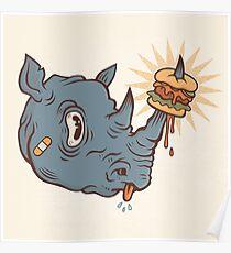 Rhino Burger YUM! Poster