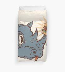 Rhino Burger YUM! Duvet Cover